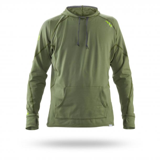 NRS H2Core Light Weight Hoodie - Oliven Hættetrøje / Sweatshirt